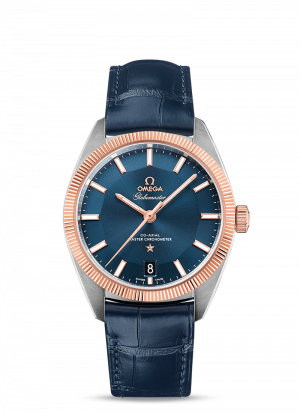 Omega Constellation Globmaster Blå Skive Stål-Sedna Gull 39 MM-13023392103001