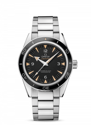 Omega Seamaster 300 Co-Axial Sort Skive Stål 41 MM-23330412101001