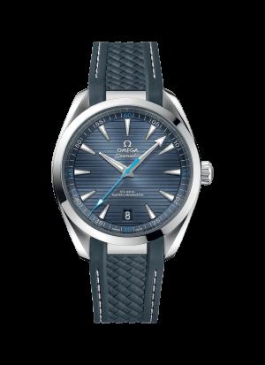 Omega Seamaster Aqua Terra 150M Co-Axial Grå-blå Skive Gummi Rem 41 MM-220-12-41-21-03-002