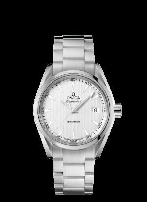 Omega Seamaster Aqua Terra 150M Quartz Sølv Skive Stål 38,5 MM-23110396002001