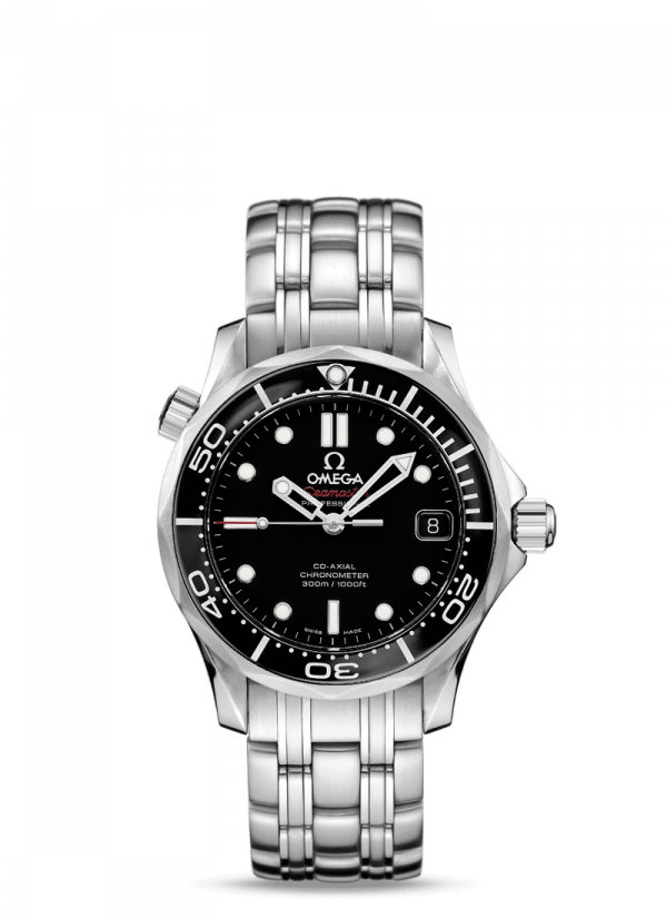 Omega Seamaster Diver 300M Co-Axial Sort Skive Stål 36,25 MM-21230362001002