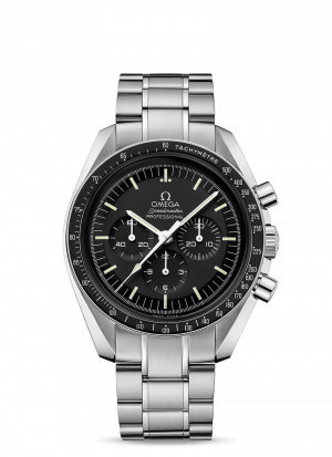 Omega Speedmaster Moonwatch Chronograph Sort Skive Stål 42 MM-31130423001006