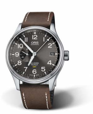 Oris Big Crown ProPilot GMT Automatisk Grå Skive Brun Rem 45 MM 01 748 7710 4063-07 5 22 05FC