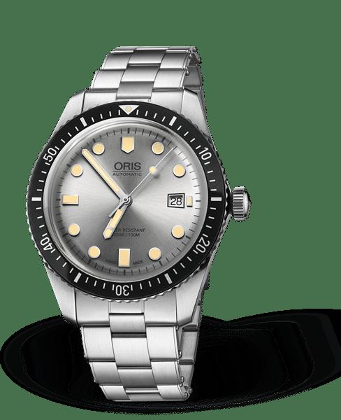 Oris Divers Sixty-Five Automatisk Sølv Skive Stål 42 MM 01 733 7720 4051-07 8 21 18