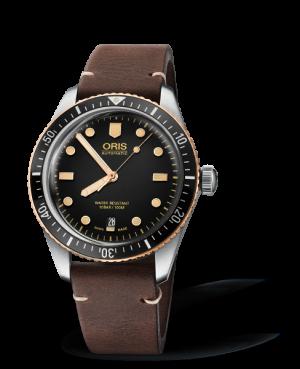 Oris Divers Sixty-Five Automatisk Sort Skive Brun Rem 40 MM 01 733 7707 4354-07 5 20 55
