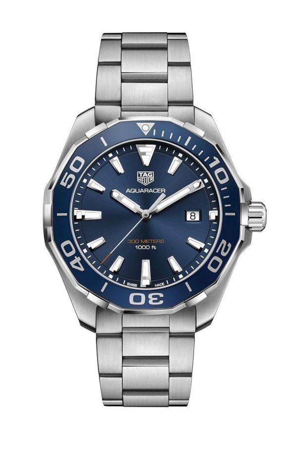Tag Heuer Aquaracer Quartz Blå Skive 43 MM - WAY101C.BA0746