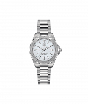 Tag Heuer Aquaracer Quartz Hvit Skive Stål 32 MM WAY1312-BA0915