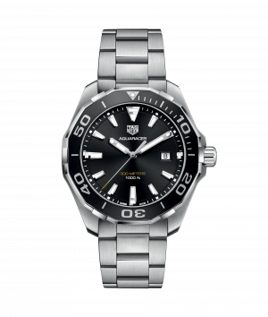 Tag Heuer Aquaracer Quartz Sort Skive Stål 43 MM - WAY101A.BA0746
