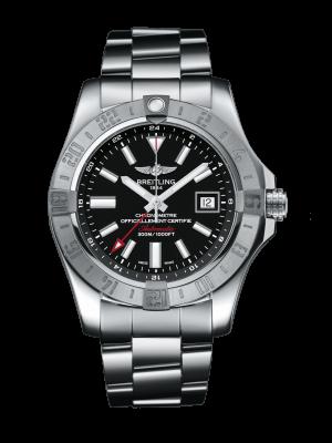 Breitling Avenger II GMT Automatisk Sort Skive Stål 43 MM A3239011-BC35-170A