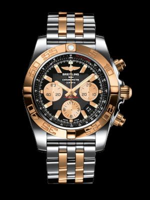 Breitling Chronomat Automatisk Grå Skive Stål & Gull 44 MM CB011012-B968-388C
