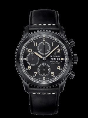 Breitling Navitimer 8 Chronograph Automatisk Sort Skive Sort Kasse Sort Skinnrem 43 MM M1331410-BG67-487X-M20BASA.6