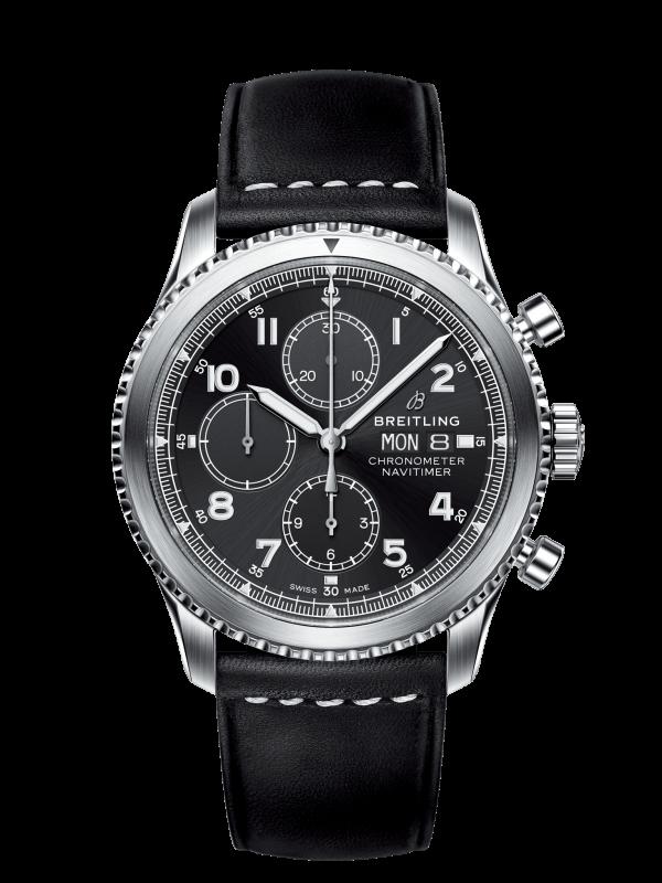 Breitling Navitimer 8 Chronograph Automatisk Sort Skive Sort Skinnrem 43 MM A1331410-BG69-487X-A20BASA.6