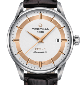 Certina DS-1 Powermatic 80 Himalaya Skive Brun Skinnrem 40 MM C029.807.16.031.60