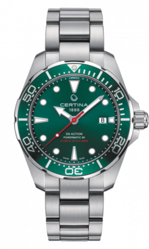 Certina DS Action Diver Powermatic 80 Automatisk Grønn Skive Stål 43 MM C032.407.11.091.00