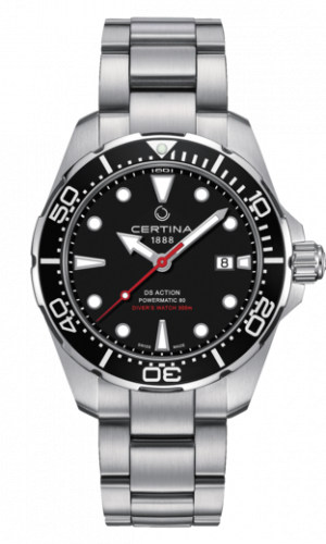 Certina DS Action Diver Powermatic 80 Automatisk Sort Skive Stål 43 MM C032.407.11.051.00