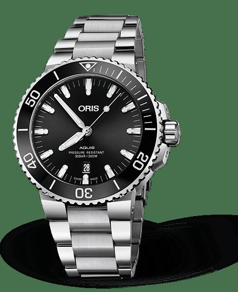 Oris Aquis Date Automatisk Sort Skive Lenke 43,5 MM 01 733 7730 4134-07 8 24 05PEB