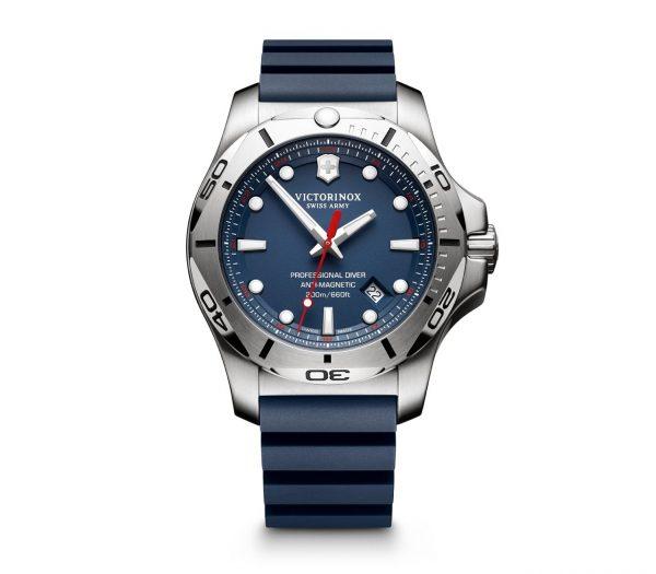 Victorinox I.N.O.X Professional Diver Quartz Blå Skive Blå Gummirem 45 MM V241734