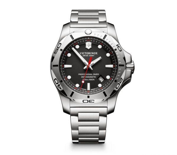 Victorinox I.N.O.X Professional Diver Quartz Sort Skive Stål 45 MM V241781