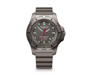 Victorinox I.N.O.X Professional Diver Titanium Quartz Grå Skive Grå Gummirem 45 MM V241810