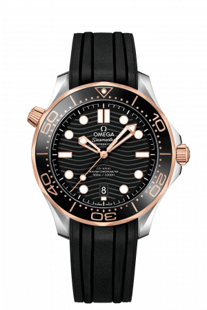 Omega Seamaster Diver 300 M Sort/Gull 42 MM