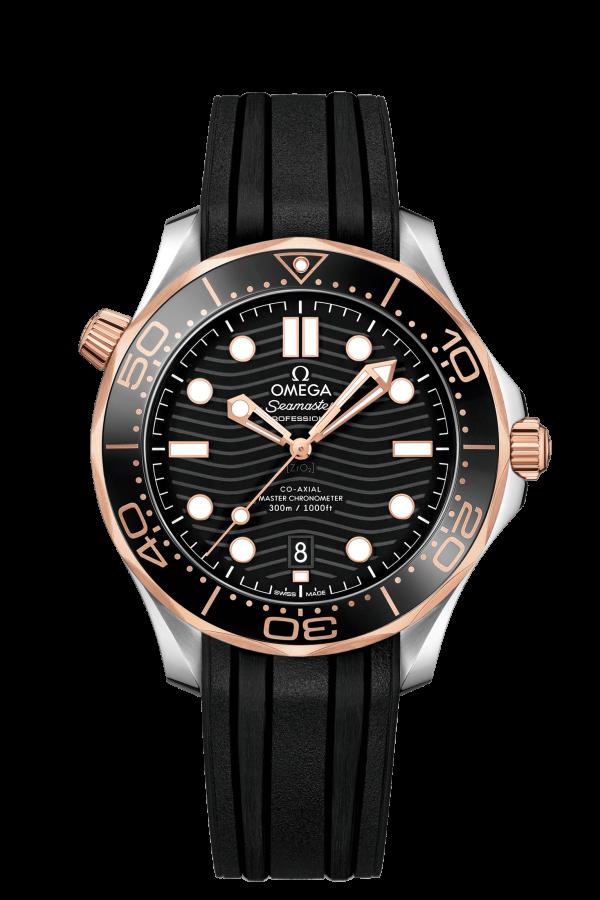 Omega Seamaster Diver 300 M Sort/Gull 42 MM